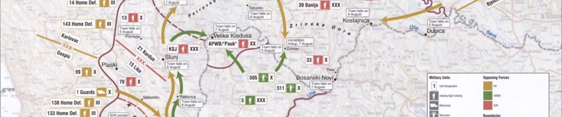 Balkan War/Croatia War/Map of Operation Storm