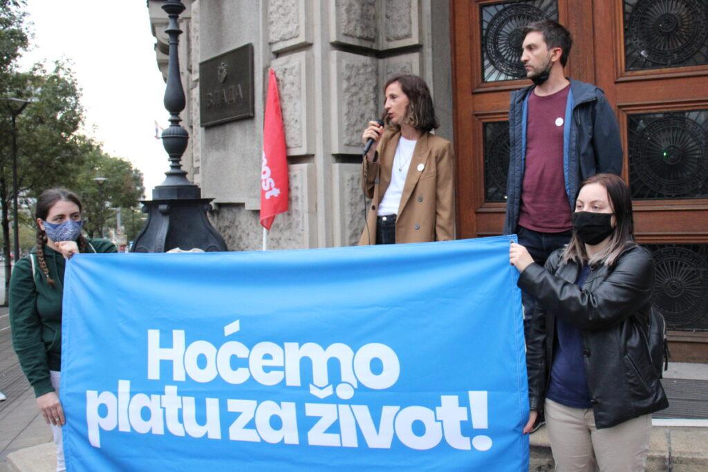 """Održan protest """"Hoćemo platu za život!"""""""